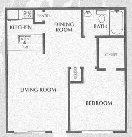 558 sq. ft. floor plan