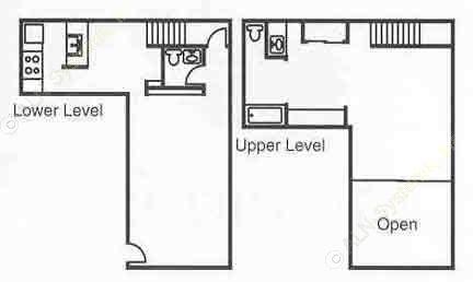 896 sq. ft. A2 floor plan