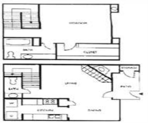 825 sq. ft. floor plan