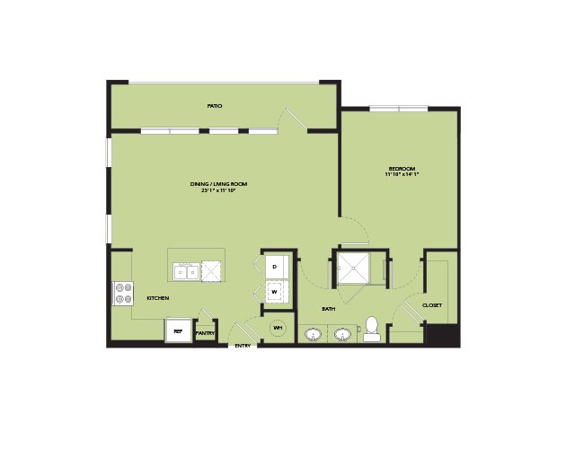 837 sq. ft. A5-S.1 floor plan