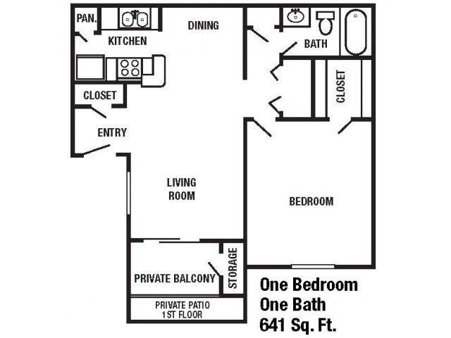 641 sq. ft. floor plan