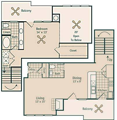 1,109 sq. ft. A9/A9 GAR floor plan