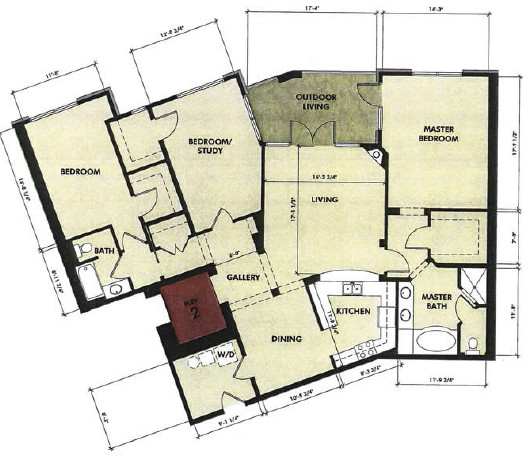 1,886 sq. ft. Medina floor plan