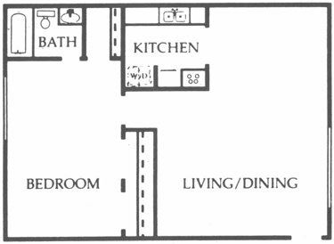736 sq. ft. Spruce floor plan