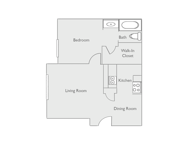 522 sq. ft. A1 floor plan