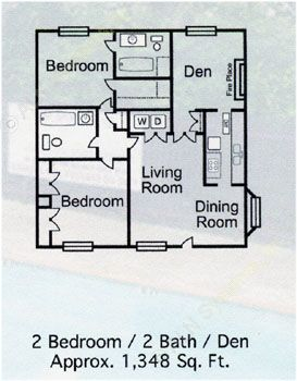 1,348 sq. ft. C-1 floor plan