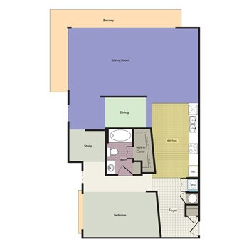 1,091 sq. ft. MIRAMONT floor plan