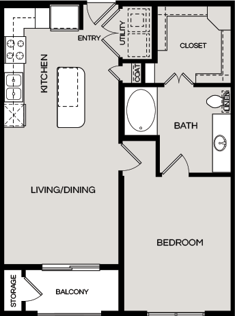 739 sq. ft. A1.1 floor plan