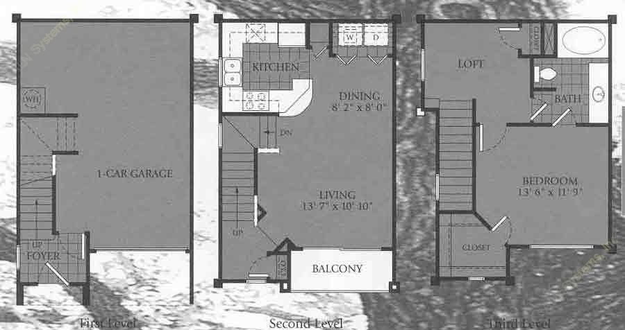 867 sq. ft. Lexington floor plan