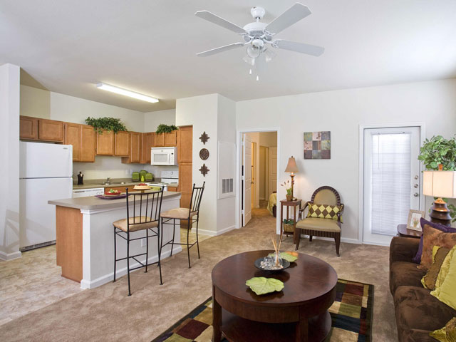 Living/Kitchen at Listing #145368
