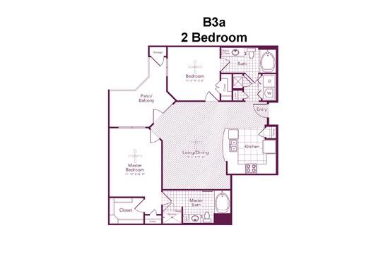 1,160 sq. ft. Dunlavy floor plan