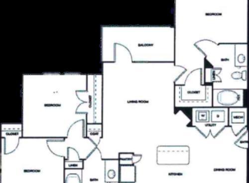 1,139 sq. ft. 50% floor plan