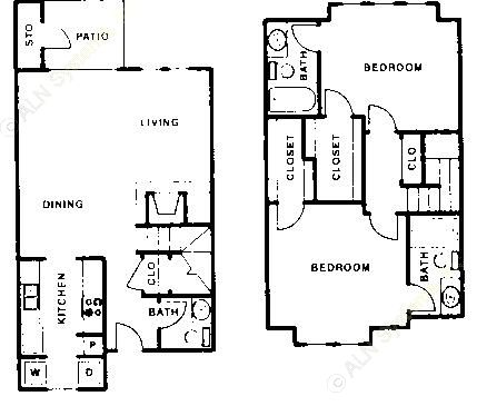 1,176 sq. ft. C floor plan