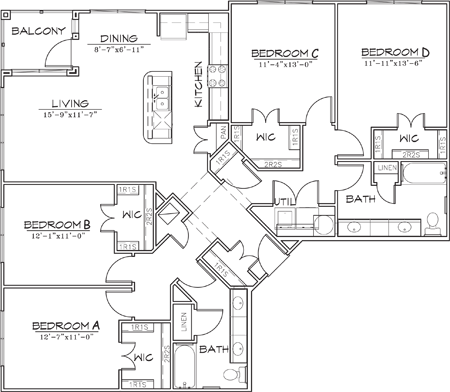 1,668 sq. ft. floor plan