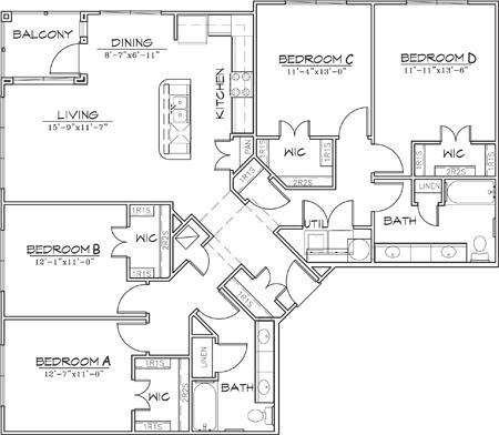 1,668 sq. ft. floor plan