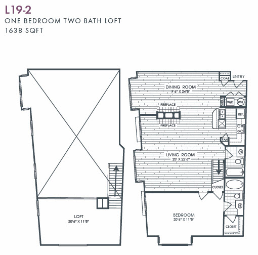 1,638 sq. ft. L19-2 floor plan