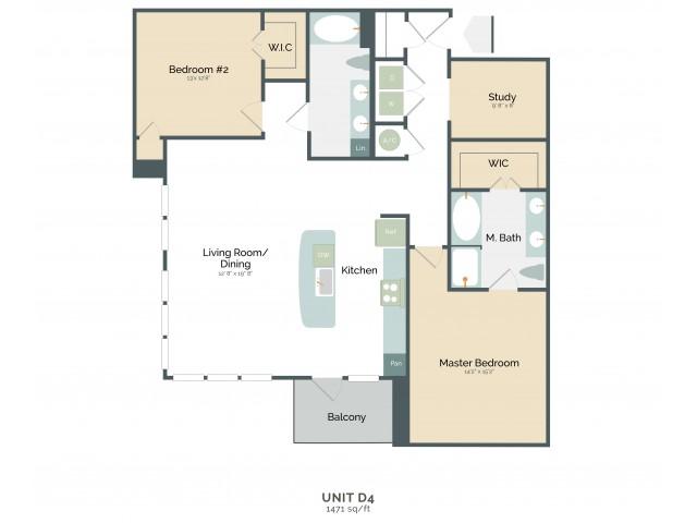 1,471 sq. ft. D4 floor plan
