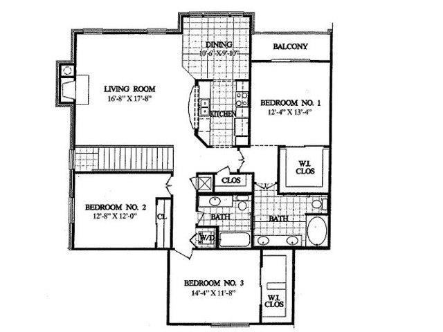 1,617 sq. ft. C2 floor plan