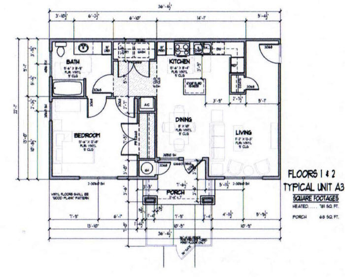 781 sq. ft. A3-50% floor plan