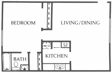 672 sq. ft. Maple floor plan