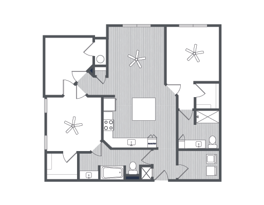 1,139 sq. ft. Siena floor plan
