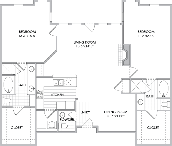1,717 sq. ft. B10 floor plan