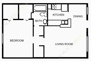 667 sq. ft. ASSOCIAT floor plan