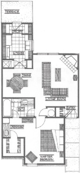 700 sq. ft. Shiloh floor plan