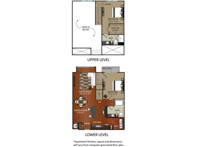 1,223 sq. ft. A5AL floor plan