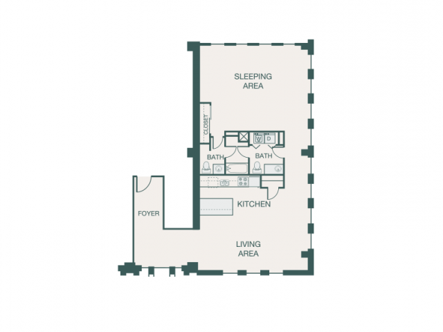 1,445 sq. ft. KK floor plan