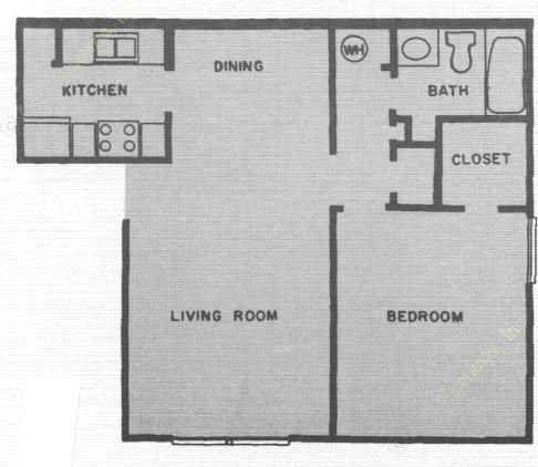 652 sq. ft. ACADIA floor plan