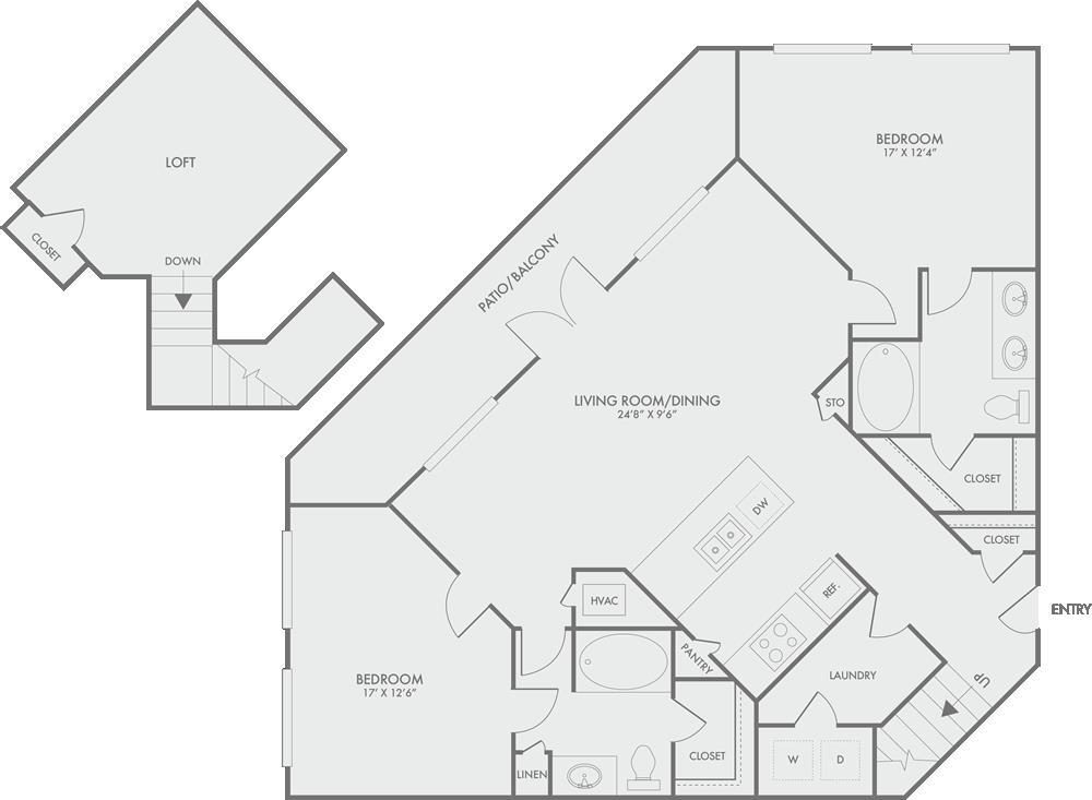 1,491 sq. ft. B10 floor plan