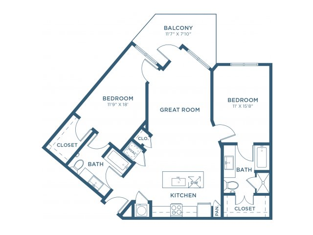1,208 sq. ft. B7 floor plan