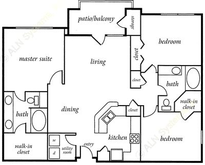 1,328 sq. ft. CHESAPEAKE floor plan