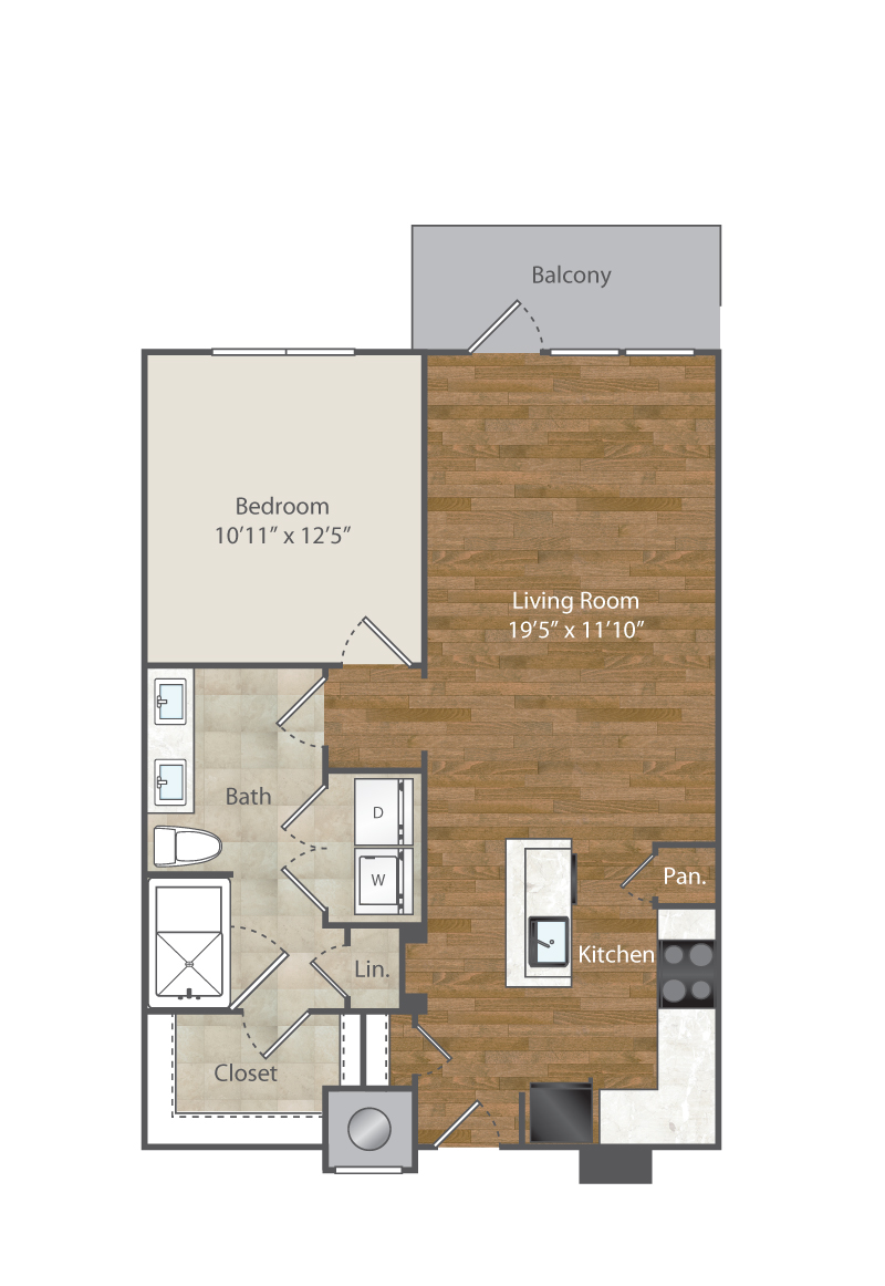 757 sq. ft. to 793 sq. ft. A4 floor plan