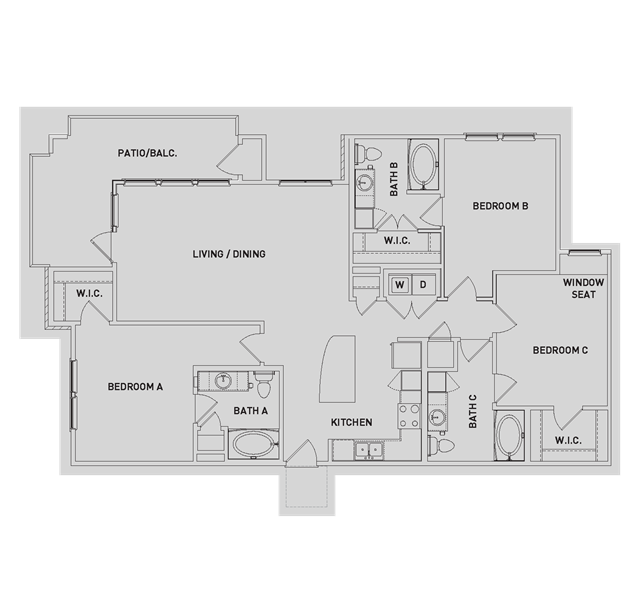 1,505 sq. ft. C1-ALT floor plan