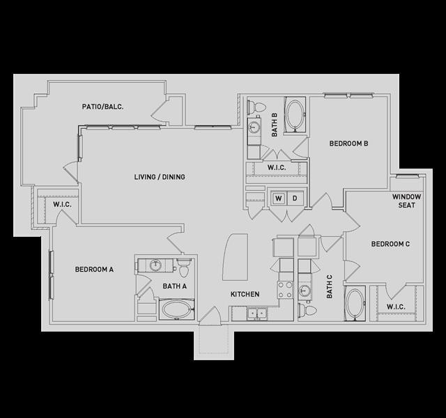 1,505 sq. ft. C1-ALT floor plan
