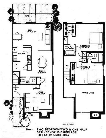 1,636 sq. ft. P floor plan