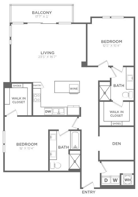 1,590 sq. ft. B4 floor plan