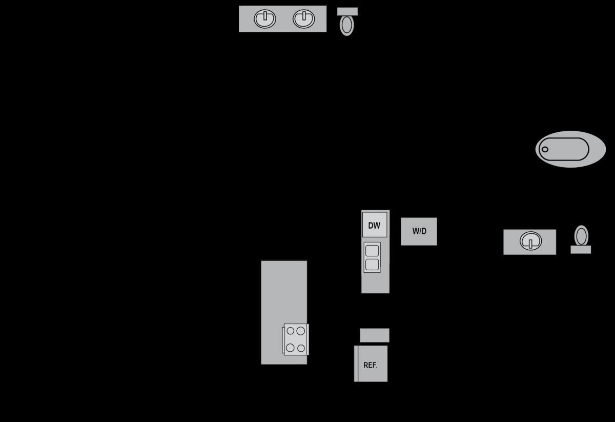 1,243 sq. ft. B4 floor plan