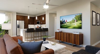 Living/Kitchen at Listing #310644