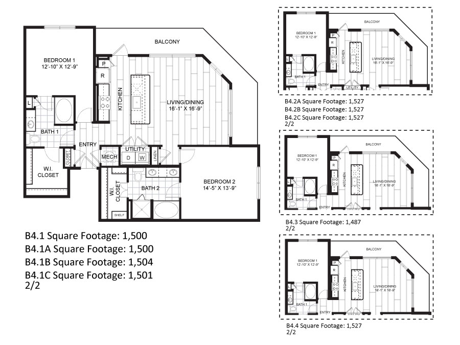 1,500 sq. ft. to 1,504 sq. ft. B4.1 floor plan