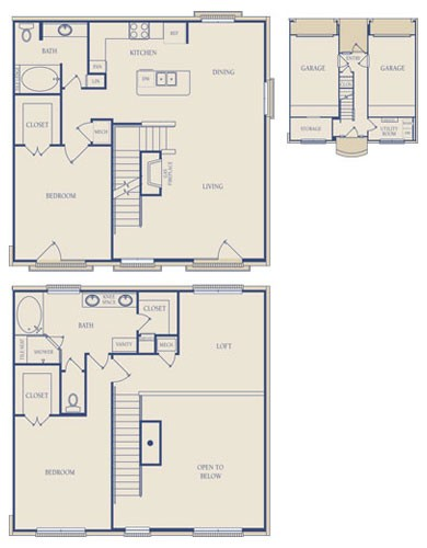 1,790 sq. ft. B5.1 floor plan