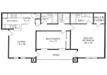 1,075 sq. ft. C floor plan