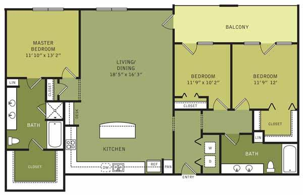 1,500 sq. ft. floor plan