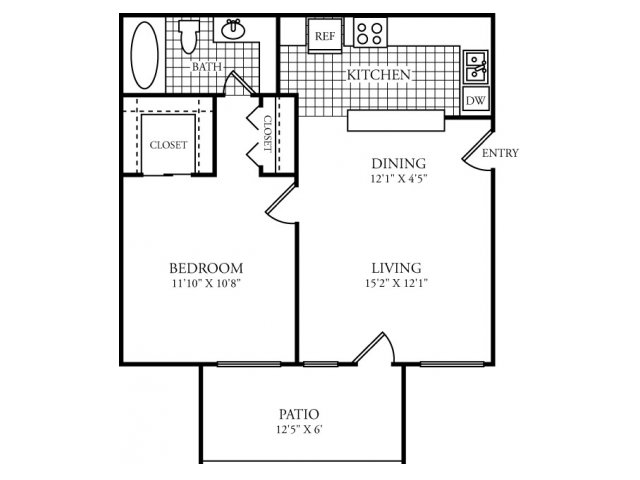 552 sq. ft. A floor plan