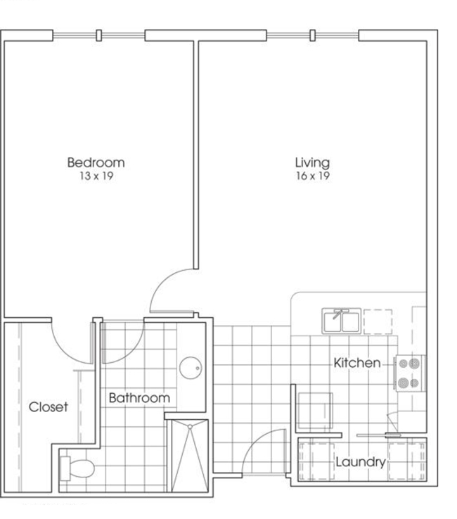 952 sq. ft. Yellow Rose floor plan
