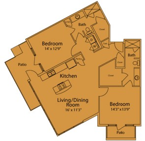 1,272 sq. ft. F floor plan