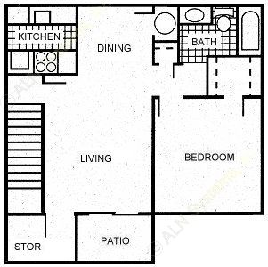 700 sq. ft. A2/A3 floor plan