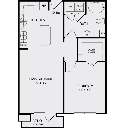 752 sq. ft. A1.1 floor plan